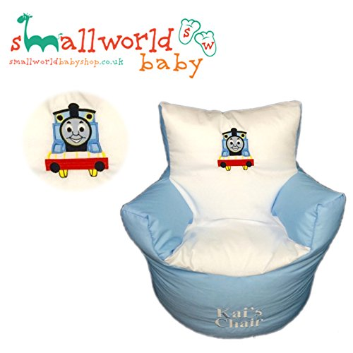 CHILDRENS KIDS TODDLER PRE FILLED PERSONALISED BEAN BAG CHAIR SEAT GIRLS BOYS (NEXT DAY DISPATCH) Small World Baby Shop