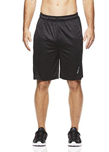 Small Black Shadow CRUZ Reebok Mens Drawstring Shorts Athletic Running /& Workout Short