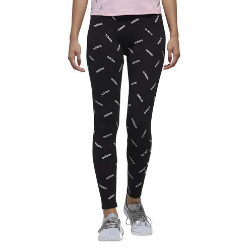 adidas Women's All Over Print Tights, Black/White, XX-Large