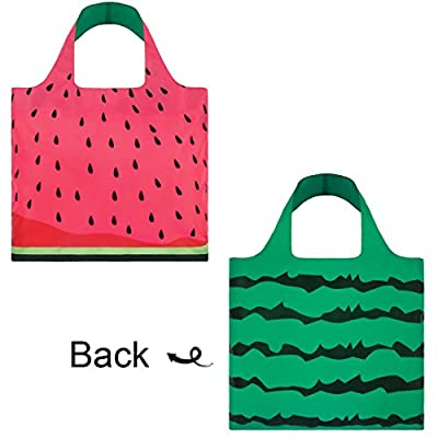LOQI Frutti Watermelon Reusable Shopping Bag, Multicolor