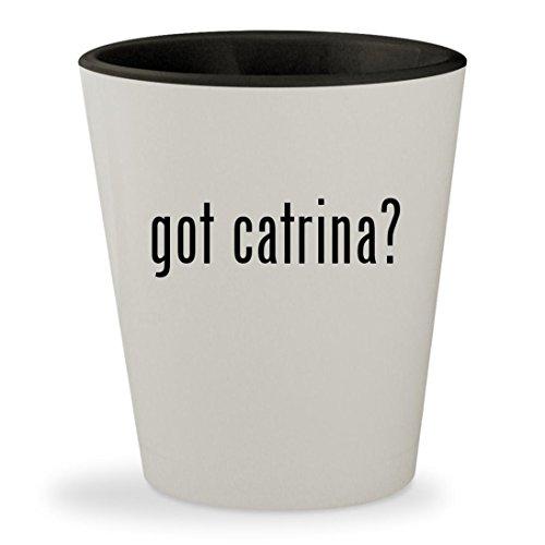 got catrina? - White Outer & Black Inner Ceramic 1.5oz Shot (La Calavera Catrina Costume)