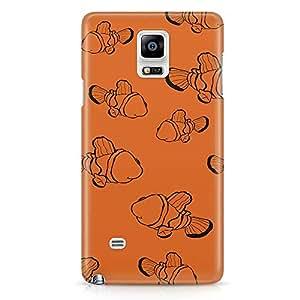 Loud Universe Nemo Orange Minimalist Pattern Samsung Note 5 Case Orange Pattern Samsung Note 5 Cover with 3d Wrap around Edges