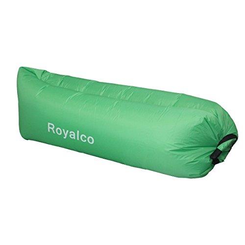LOPEZ 2016 New Fast Infaltable Beach Sleeping Bag Convenient Outdoor Inflatable Lounger Mattress Quick Open lazybones Sleeping Air Bed Hangout Camping Bed Free Beach Cheer Beach Sofa Lounge-Green