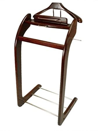 Attirant Mens Suit Brown Wood Valet Stand Tray Holder Shoes Storage Clothes Rack  Hanger
