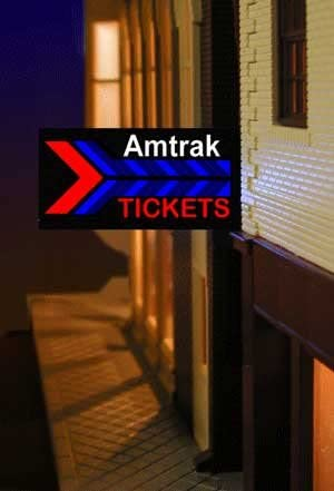 64811-L Left Mount Model Amtrak Station Animated /& Lighted Sign by Miller Signs