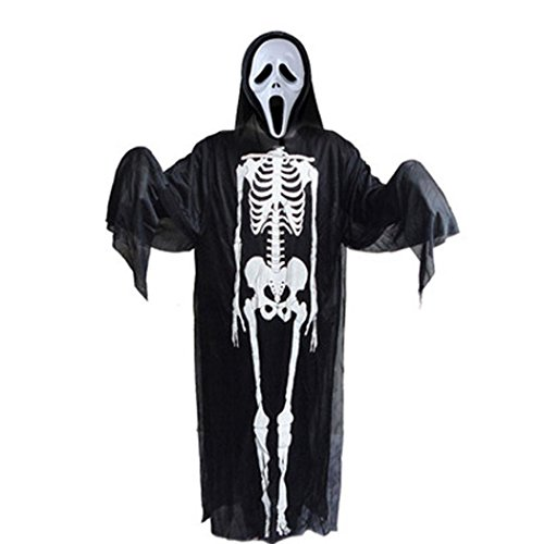 [Oksale® Halloween Party Children Horror Cloak Masquerade Devil Coat Robe Gowns] (Clown Around Makeup Kit)