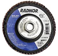 Radnor Disc Flap 4 1/2X5/8-11 Type 29 40Gr Zirconia Alumina -1 Each