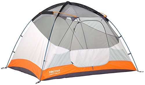 Marmot Limestone Camping Tent – Durable, seam-taped polyester fly is equipped, this family tent becomes fully waterproof without sacrificing air circulation