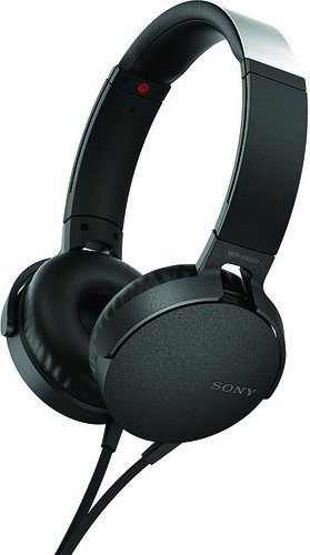 Sony XB550AP Extra Bass On-Ear Headphone, Black