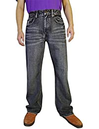 "<span class=""a-offscreen"">[Sponsored]</span>Men's Fashion Bootcut Blue Jeans Regular Fit Mens Work Pants"