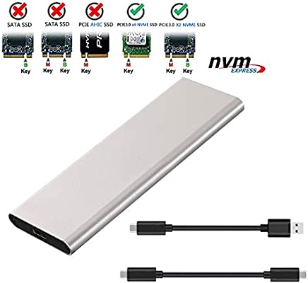 Amazon.com: M.2 NVME SSD Enclosure NVME to USB3.1 Type-C ...