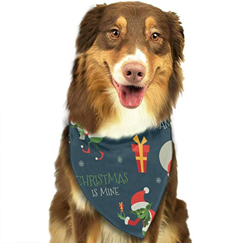 OURFASHION Grinch Pattern Bandana Triangle Bibs Scarfs Accessories for Pet Cats and Puppies.Size is About 27.6x11.8 Inches (70x30cm). -