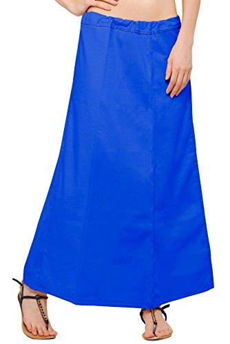 Chandrakala Women's Readymade Cotton Floor Length Free Size Petticoat Underskirt Slips for Indian Sarees(P104BLU4) by Chandrakala