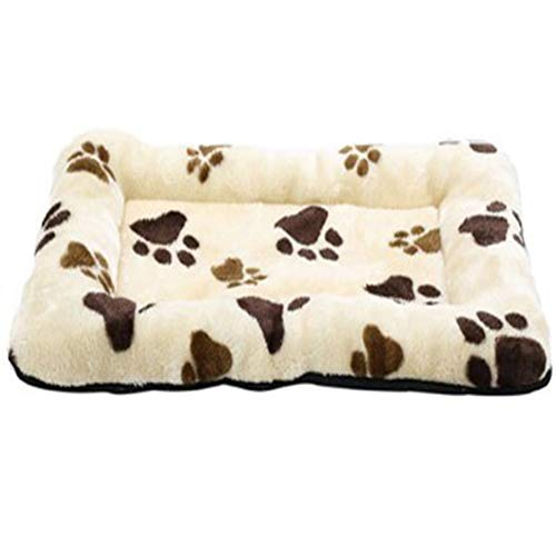 RANRANHOME Paw Print Pet Bed,Thickened Non Slip Non-Woven Fabric Dog Bed Measures,Cat Litter Dog pad 73cm50cm, Machine Wash -