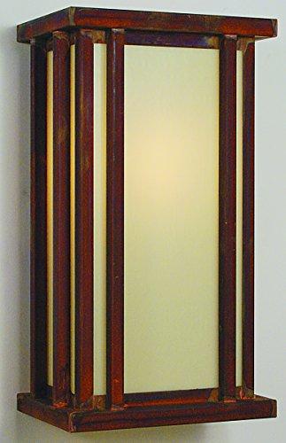 Arroyo Craftsman Glencoe Flush Wall Mount Raw Copper Metal Finish, White Opalescent Glass, 9