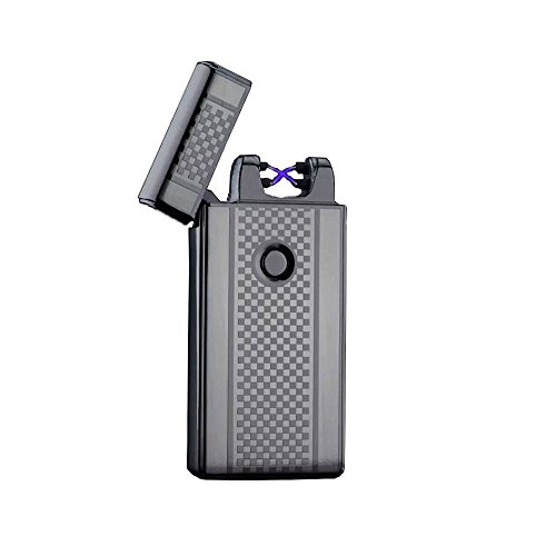 electric-dual-arc-black-checkered-lighter-from-amp-durable-windproof-flameless-usb-rechargeable-elec