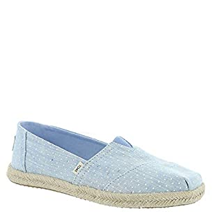 TOMS Women's Alpargata on Rope Bliss Blue Tiny Chambray Dots On Rope 10 B US (B07GGZDL7V) | Amazon price tracker / tracking, Amazon price history charts, Amazon price watches, Amazon price drop alerts