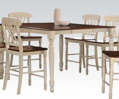 Acme Furniture 70430 Dylan Counter Height Table, Buttermilk U0026 Oak