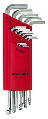 Bondhus 17095 Set of 15 Balldriver L-wrenches with BriteGuar