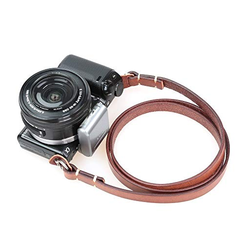 (CANPIS Universal Genuine Leather Camera Shoulder Neck Strap for Leica Sony etc (Brown))