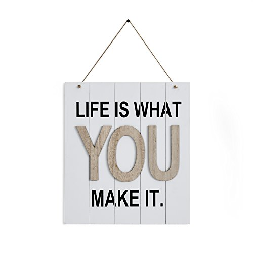 """Danya B. """"Life is What You Make It Wooden Wall Plaque"""