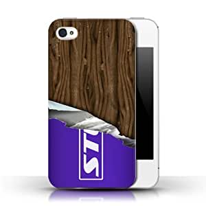 KOBALT? Protective Hard Back Phone Case / Cover for Apple iPhone 4/4S | Wrapped Flake Design | Chocolate Collection