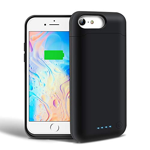 Battery Case for iPhone 6 6s 7 8, SHENMZ 6000mAh Protective Charging Case for iPhone 6 6s 7 8 (4.7 inch) Battery Charger Case (24 Month Warranty)
