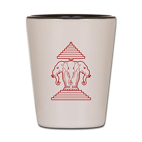 Elephant Shot Glass - CafePress - Three Headed Elephant - Shot Glass, Unique and Funny Shot Glass
