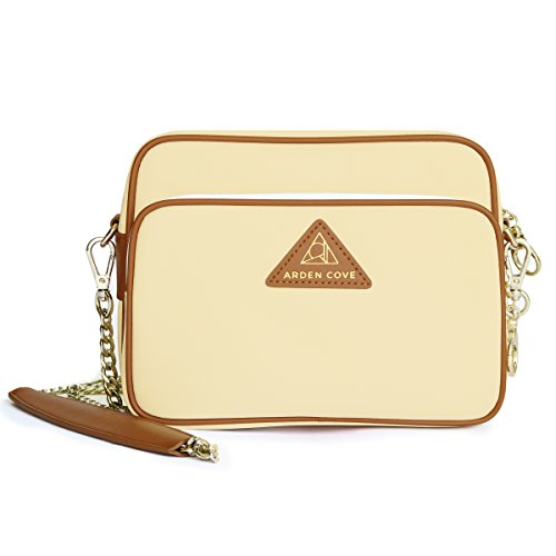 Arden Cove Full Anti-Theft Waterproof Cross-Body Bag (20'' Drop Length, Cream) by Arden Cove
