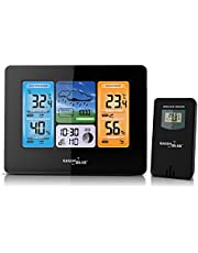 Green Blue GB522 Weerstation met weertrendsvoorspelling, wifi-app, draadloos weerstation met buitensensor, wekker, kleurendisplay