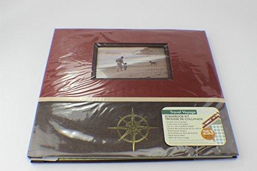 12' Postbound Scrapbook - Travel Voyage Scrapbook Kit by PAPER BOUTIQUE