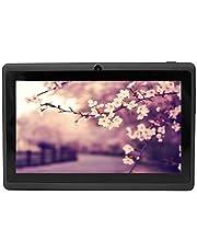 YUNTAB Google Tablet 7 Zoll Q88 Android 4.4 Tablet PC Quad-core Allwinner A33 HD 1024x600 8GB 1.5GHz 512MB Dual Kamera Google Play Vorinstalliert,WLAN,3D, Bluetooth- schwarz