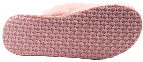 Slipper Wool Pink Winter Flops lite Women Women's Flip Shearling Slippers U Warm House Cozy Flat Warm for qCv7HaWnR