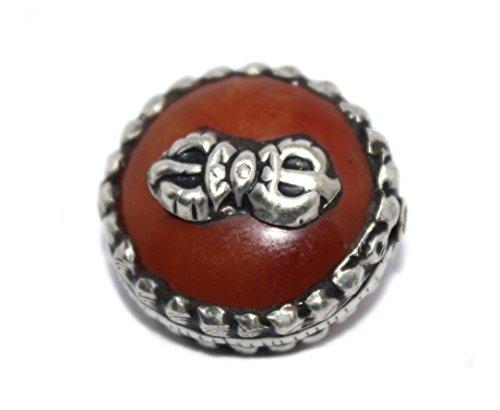 (Amber Beads Handmade Beads Nepalese Beads Tibetan Beads Boho Beads B271)