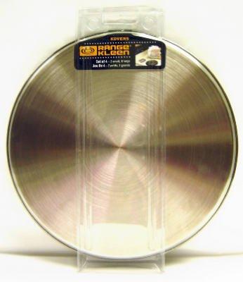 Range Kleen Stainless Steel Burner Cover Set - Set of 4