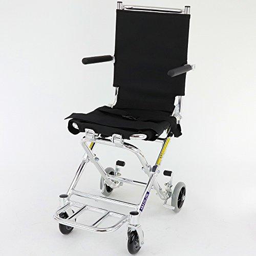 新発売!次世代型簡易車椅子【ポケッタ】【簡易型】【旅行用】【車椅子】【アルミ】【超軽量】【超コンパクト】【介助用】【ノーパンク】【駐車ブレーキ】美しいクローム仕上げ B503-AP B009328QVQ