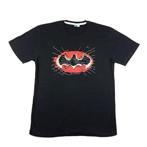 """Batman Herren T-Shirt """"Cracked Logo"""" (schwarz)"""