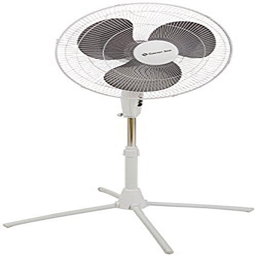 "Comfort Zone CZST185WT Oscillating Quad Pod Pedestrial Fan, 18"", White"