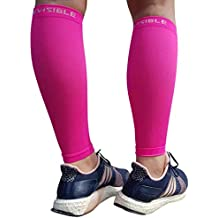 BeVisible Sports Calf Compression Sleeve - Shin Splint Leg Compression Socks for Men & Women - Our Best Calf Sleeves for Running Cycling Air Travel Support Circulation & Recovery - 1 Pair
