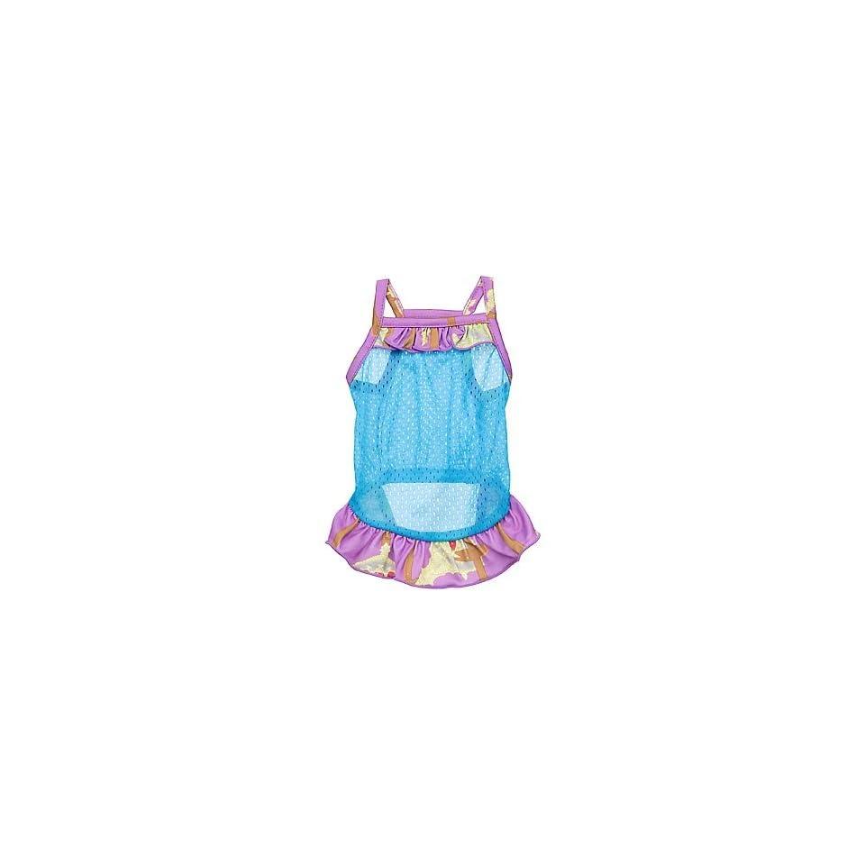 Royal Animals Blue Mesh Dog Dress, Large