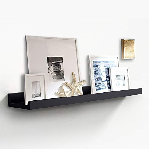 - INART Picture Ledge Wall Shelf Display Floating Shelves, 4-inch Deep (36 Inch, Black)