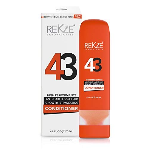 REKZE 43 Conditioner Clinically Proven Hair Growth Stimulating & Anti-Hair Loss For Men & Women, DHT Blocker For Thinning, Thickening & Damaged, All Hair Types, Color Treated by REKZE