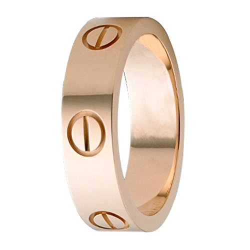 - Mintrayor Love Ring-Rose Gold Lifetime Just Love You 6MM in Width Sizes 10