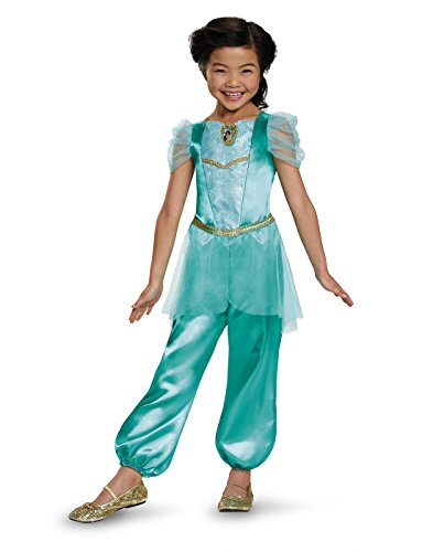 Jasmine Classic Disney Princess Aladdin Costume, One Color, (Disney Princes Costumes)