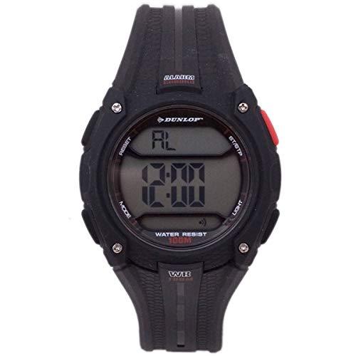 Dunlop Digital Watch Mens DUN137G01 Plastic Quartz Black Light