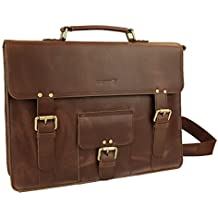LB1 High Performance Genuine Leather Laptop Messenger Bag for HP Pavilion DV4T 1400 Notebook Laptop Laptop Business Briefcase (Reddish Brown)