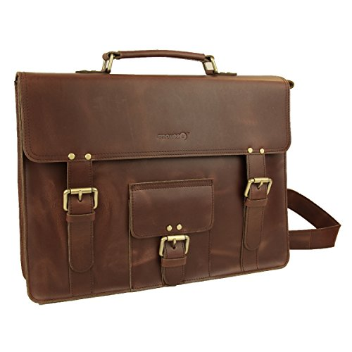 LB1 High Performance Genuine Leather Laptop Messenger Bag for Apple iBook Laptop 14.1