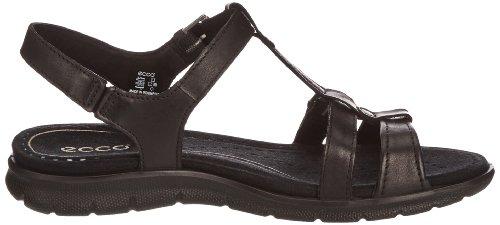 de negro BLACK Babett Mocasines Negro Ecco cuero T Schwarz 01001 color Feather Sandal mujer talla Strap Babette Black 35 para Uqxq1O8