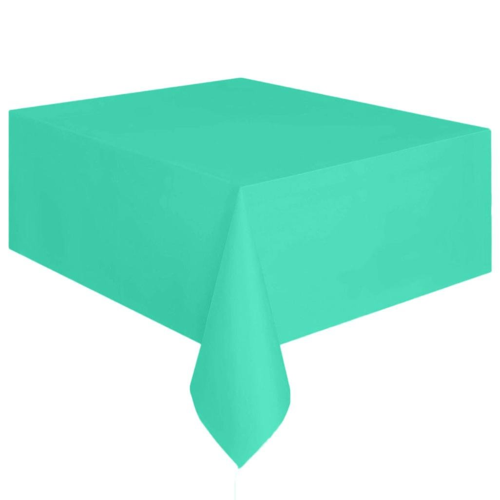 Coohole Disposable Plastic Tablecloth,6ft x 4.5ft Rectangle Table Cover (Green)