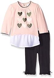 Petit Lem Girls\' Baby 2 Piece Set Tunic and Legging, Pink, 18 Months